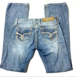 Women's Size 26 Rock Revival Buckle Bootcut Jeans